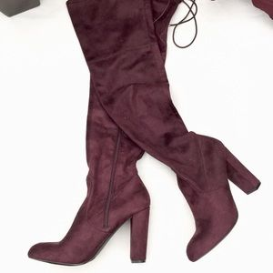 "A New Day ""Penelope"" heeled over the knee boot- 11"